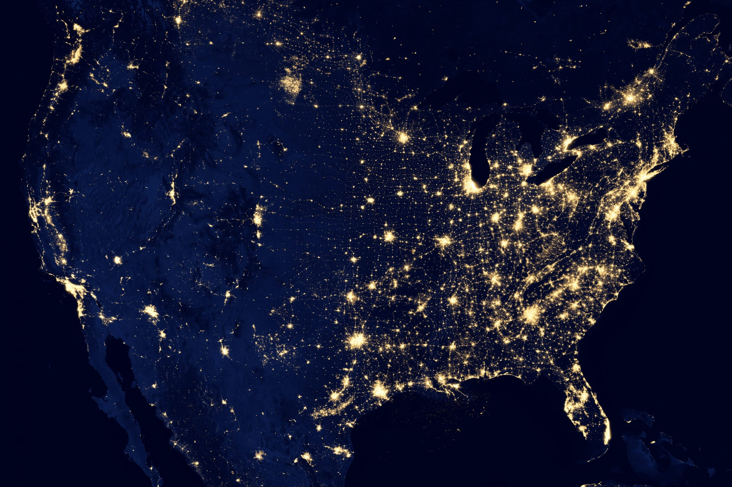 USA internet map